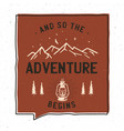 vintage adventure badge design vector image vector image