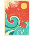 Vintage tropical background vector image vector image