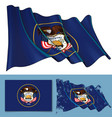 waving flag of the state of utah vector image vector image
