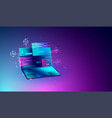 web development and programming coding concept vector image