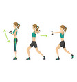 woman fitness workout aerobic fitness with vector image vector image