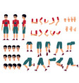 young man creation kit - guy in t-shirt and shorts vector image vector image