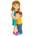 young mother and her charming little son vector image vector image