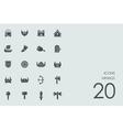 Set of Vikings icons vector image