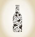 Wine a bird vector image