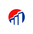 graph business finance design logo vector image