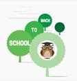 Owl teacher sat on a tree vector image