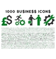 1000 flat business icons vector image vector image