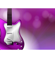 A guitar with a gradient colored background vector image vector image