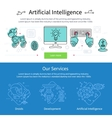 Artificial Intelligence Banner Set vector image vector image
