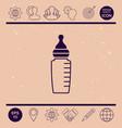 baby feeding bottle icon vector image