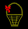 basket with bow sign 710 vector image