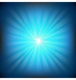 Blue Burst And Stars vector image vector image