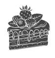 Cake glyph icon