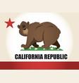 cartoon california flag vector image