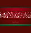 christmas decorative winter elements background vector image vector image