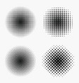 circle halftone effects set vector image