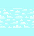 clouds skies and heaven seamless pattern texture vector image vector image