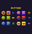 colorful game design ui buttons cartoon button vector image