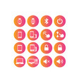 colorful gradient device and design element icon vector image vector image