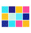 colorful memphis seamless patterns vector image vector image
