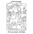 coloring antelope vector image vector image