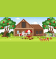 countryside rural house landscape vector image vector image