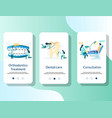 dentist mobile app onboarding screens vector image vector image