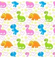 Dinosaur bright seamless pattern vector image vector image