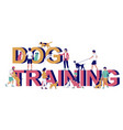 dog training typography banner template vector image vector image