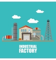 Factory and industry plant equipment vector image