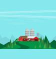 farm flat landscape natural background organic vector image vector image