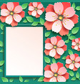 festive background with 3d sakura blossom vector image