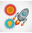 financial start up design vector image vector image