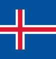 flag of iceland national symbol of the state vector image