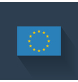 Flat flag of European Union vector image vector image