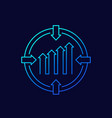 focus on growth line icon vector image
