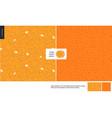 food patterns fruit orange vector image vector image