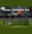 football results table vector image vector image
