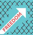 freedom arrow wire mesh vector image vector image