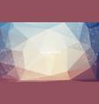 geometric pastel polygonal background molecule vector image vector image
