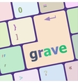 grave button on computer pc keyboard key vector image vector image