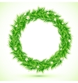Green grass with chamomiles round frame vector image