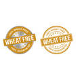 grunge stamp and silver label wheat free vector image vector image