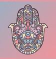 hamsa symbol fatima hand pattern vector image