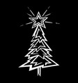 hand-drawn christmas tree stylized vector image vector image