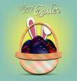 happy easter bowling balls in form eggs vector image vector image