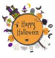 happy halloween frame vector image