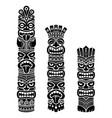 hawaiian and polynesia tiki pole design vector image