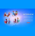 interview background information on banner work vector image vector image